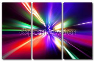 Скоростные разноцветные линии