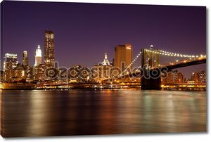 Нью-Йорк - Манхэттен ночью