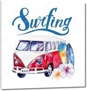 Автобус для поездки на серфинг