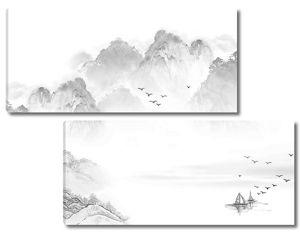 Горы нарисованные карандашом