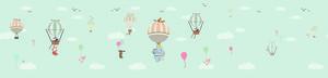 Панорама зверят на воздушных шарах