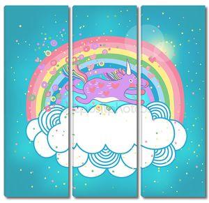 единорог Радуга в облаках