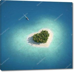 Райский остров в форме сердца