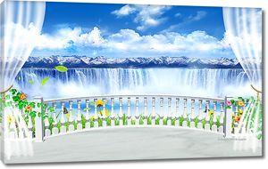 Балкон над водопадом