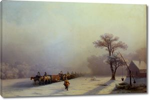 Айвазовский. Зимний обоз в пути