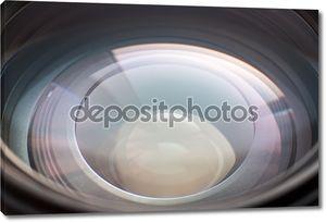 Крупным планом фото апертурой линзы.