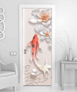 Большая рыба с цветами