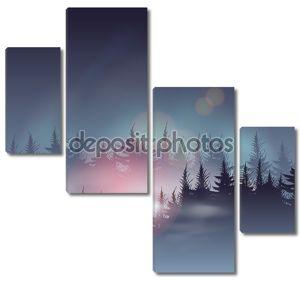 Туманные хвойные леса