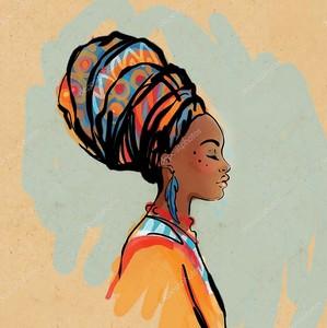 Африканская женщина в тюрбане