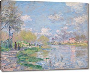 Моне Клод. Весной по берегам Сены, 1875
