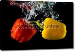 Погружение перца в воду