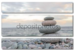 Small zen stone tower