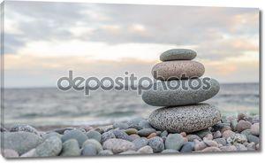 Small zen stone tower
