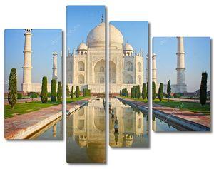 Тадж Махал, знаменитый исторический памятник, Индия
