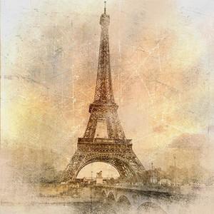 Ретро стиле фон - Эйфелева башня