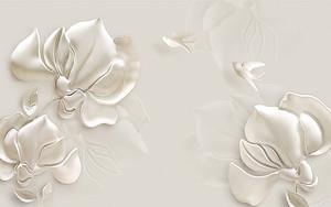 Лепные белые орхидеи