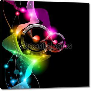 Альтернативные диско Флаер для международного мероприятия