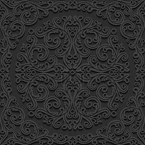 Бесшовный цветочный орнамент. Векторные иллюстрации