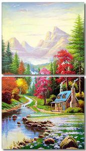 Домик в разноцветной долине