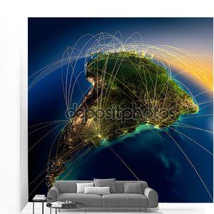 Основные Воздушные маршруты в Южной Америке