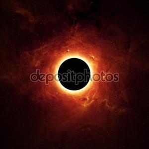 полное затмение, черная дыра