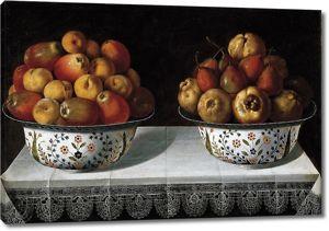Томас Йепес. Две вазы с фруктами