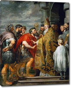 Рубенс. Святой Амвросий и император Феодосий