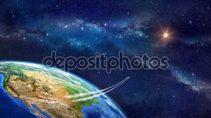 Полет в космосе