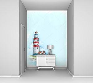 Акварель маяк
