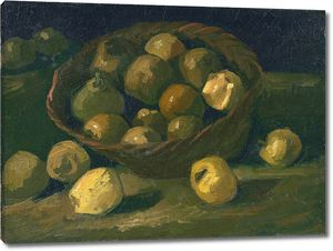 Ван Гог. Натюрморт с корзиной яблок