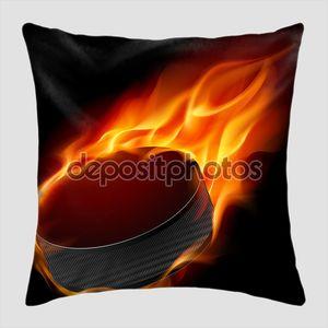 Burning hockey puck