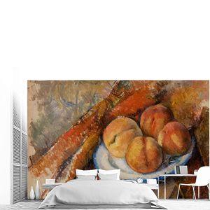 Поль Сезанн. Четыре персика на тарелке