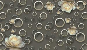 Белые цветы и круги