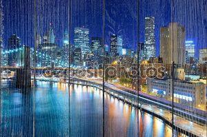 Манхэттенский горизонт ночью