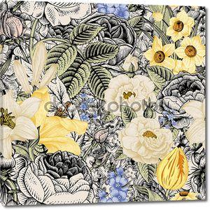 Бесшовный цветочный узор лето