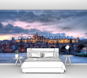 Prague castle at night - HDR photo