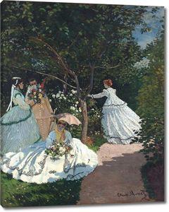 Моне Клод. Женщины в саду, 1867