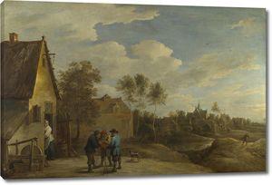 Тенрис Давид (Младший). Вид на деревню