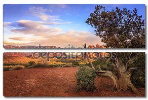 Скала Собор в Sedona на закате