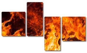 Пламя бушует