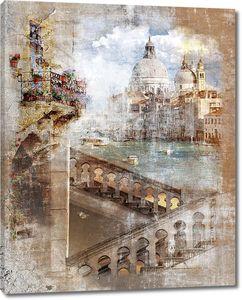 Состаренная фотография Венеции