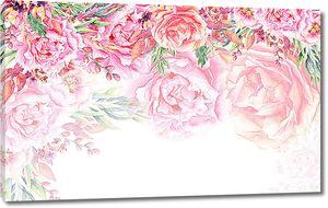 Розовые бутоны по верху