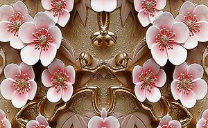 Цветы сакуры из эмали с золотом