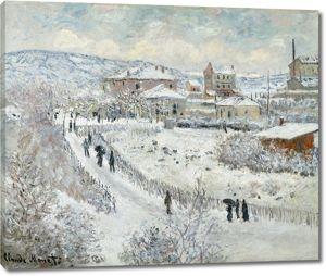 Моне Клод. Вид Аржантее в снегу, 1875