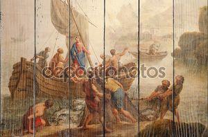 Гент - 23 июня: краска чудо рыбалки от ст. Церковь Петра с Питером Норберт ван reysschoot на 23 июня 2012 в Гент, Бельгия
