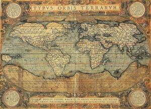 Цветная старинная карта
