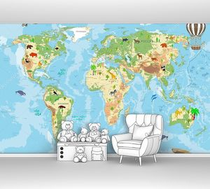 Географическая детская карта