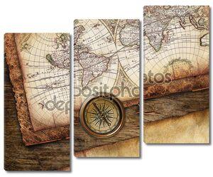 Винтаж старая карта
