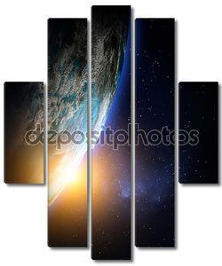 планета Земля от пространства