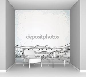 Музыкальный фон с Абстрактная композиция.